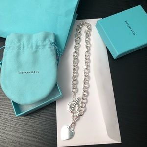 Tiffany and Co. Heart Tag Toggle Necklace!